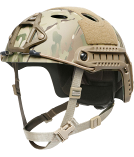 OPS-CORE FAST CARBON HIGH CUT HELMET WITH SKELETON SHROUD
