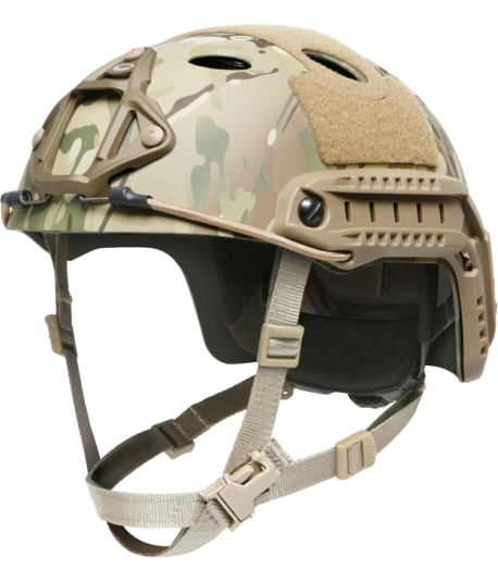 OPS-CORE FAST CARBON HIGH CUT HELMET WITH SKELETON SHROUD MULTICAM