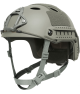 OPS-CORE FAST CARBON HIGH CUT HELMET WITH SKELETON SHROUD FOLIAGE GREEN