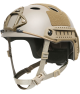 OPS-CORE FAST CARBON HIGH CUT HELMET WITH SKELETON SHROUD TAN